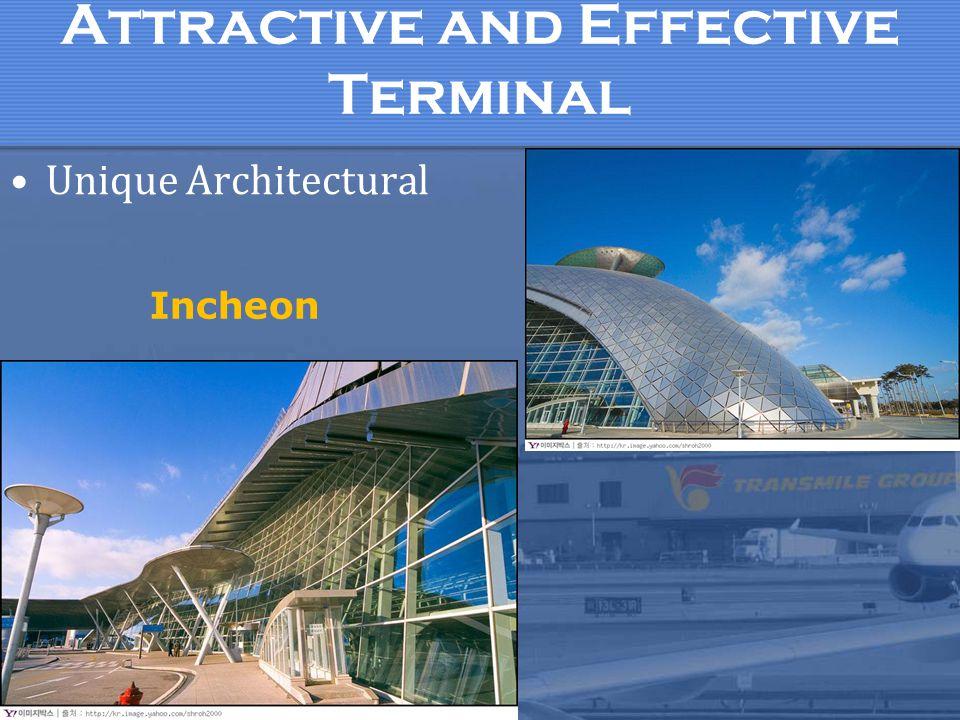 Attractive and Effective Terminal Unique Architectural Incheon