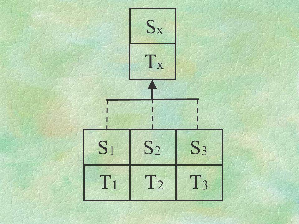 SxSx S1S1 S2S2 S3S3 T1T1 T2T2 T3T3 TxTx