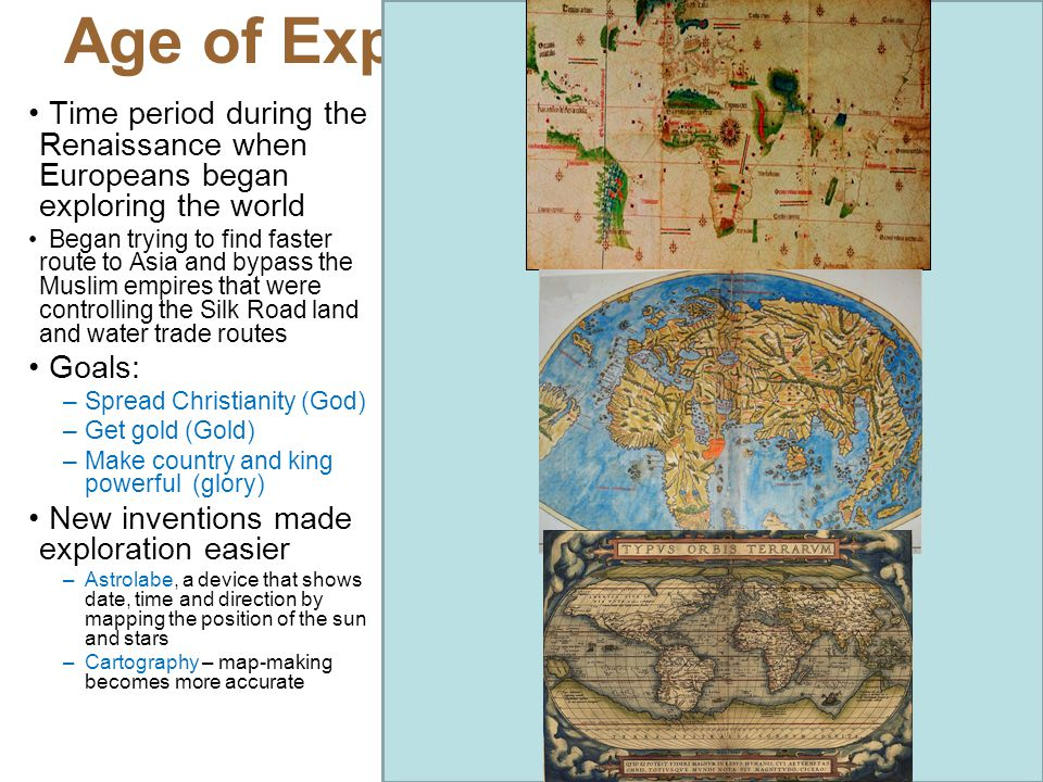 Age of Exploration 1490-1650 A.D.