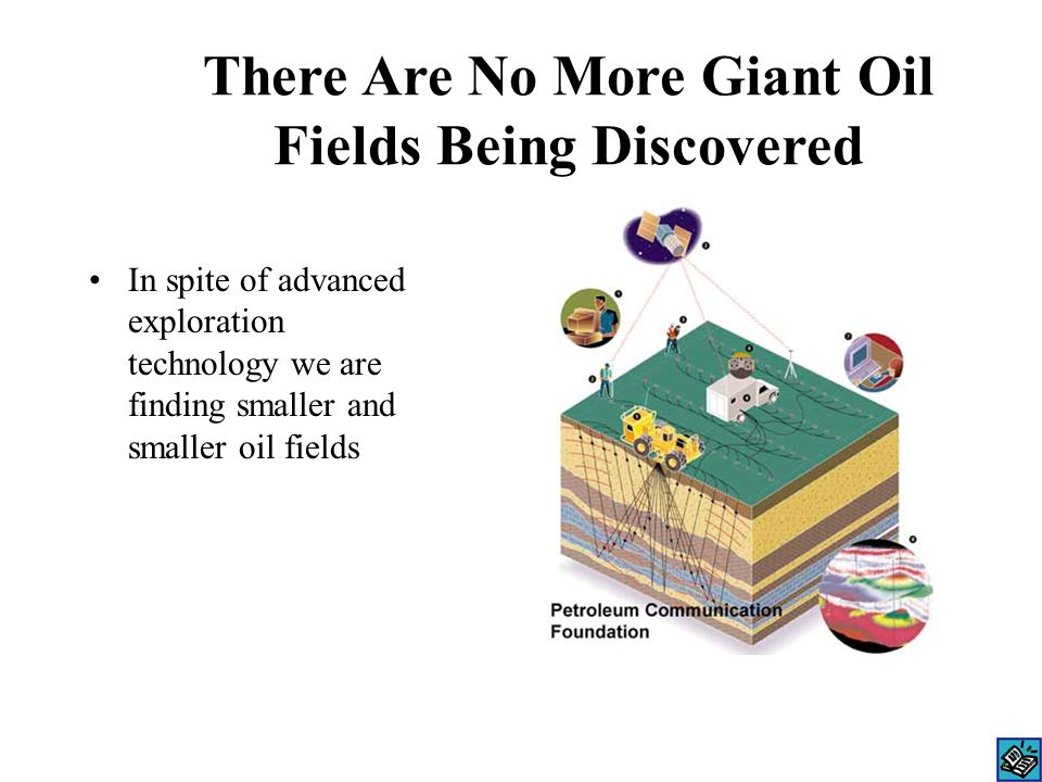 There Are No More Giant Oil Fields Being Discovered In spite of advanced exploration technology we are finding smaller and smaller oil fields