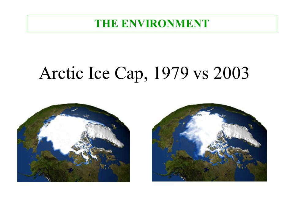 THE ENVIRONMENT Arctic Ice Cap, 1979 vs 2003