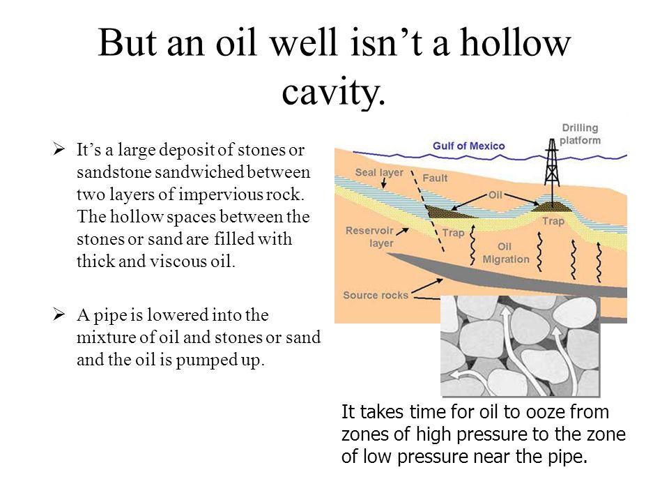 But an oil well isn't a hollow cavity.
