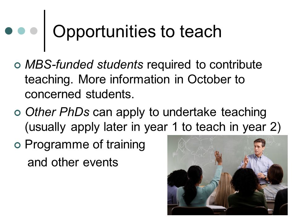 Opportunities to teach MBS-funded students required to contribute teaching.
