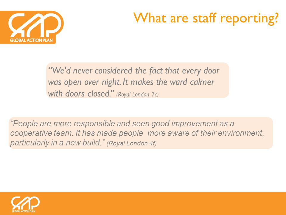 What are staff reporting. We d never considered the fact that every door was open over night.