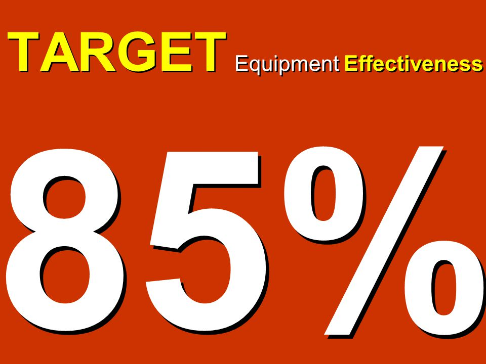 TARGET Equipment Effectiveness 85%
