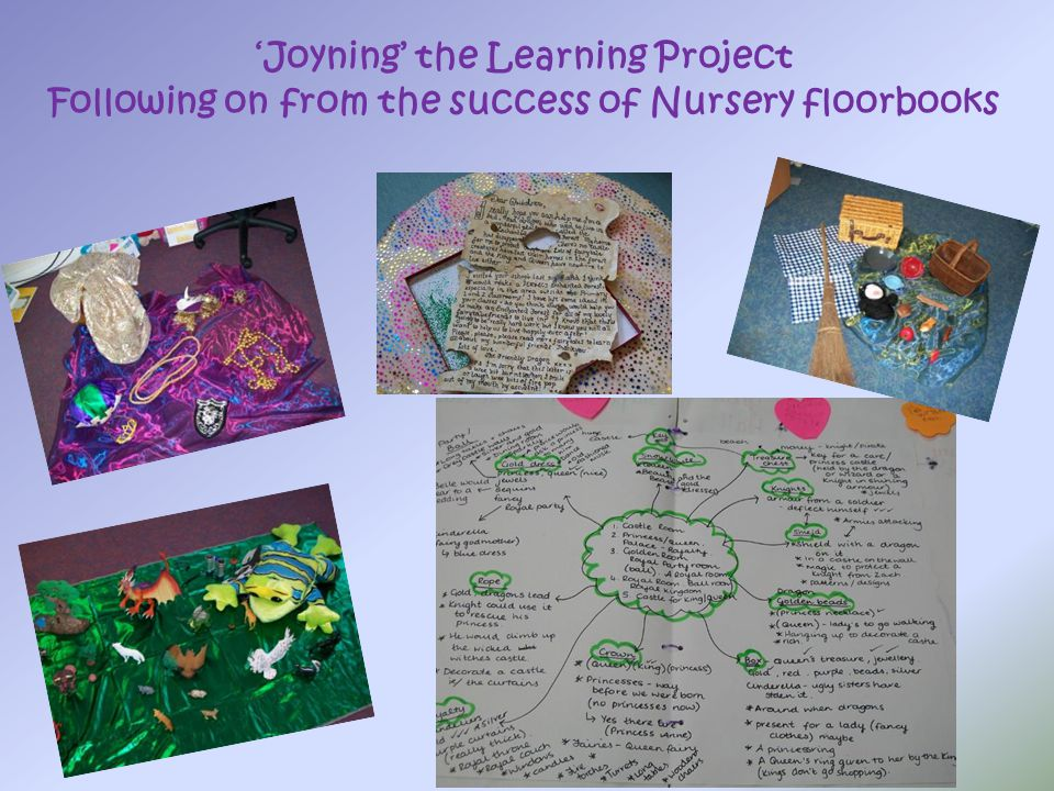 'Joyning' the Learning Project Following on from the success of Nursery floorbooks