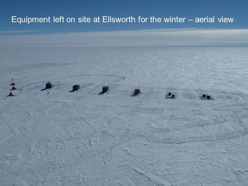 Equipment left on site at Ellsworth for the winter – aerial view