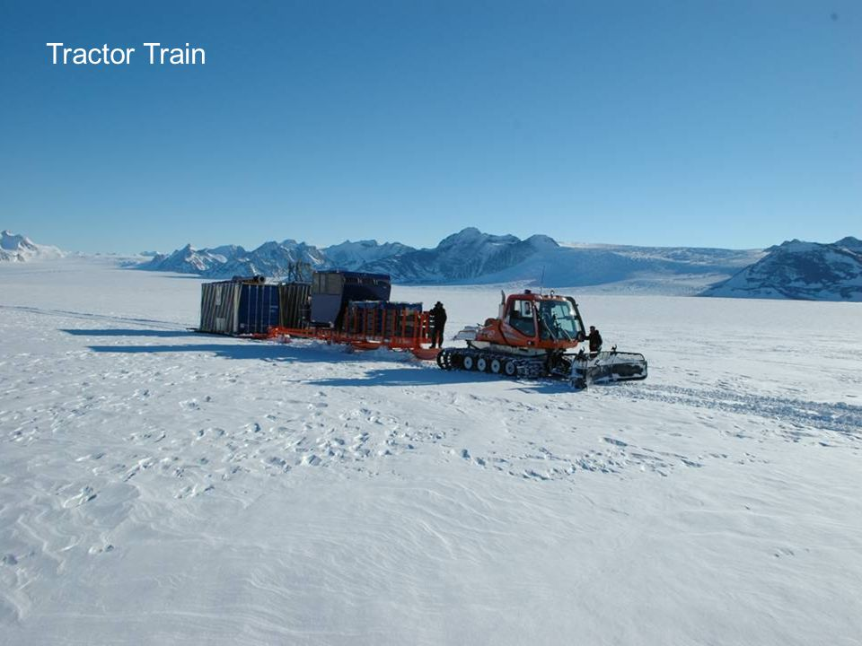 Halley Research Station Tractor Train