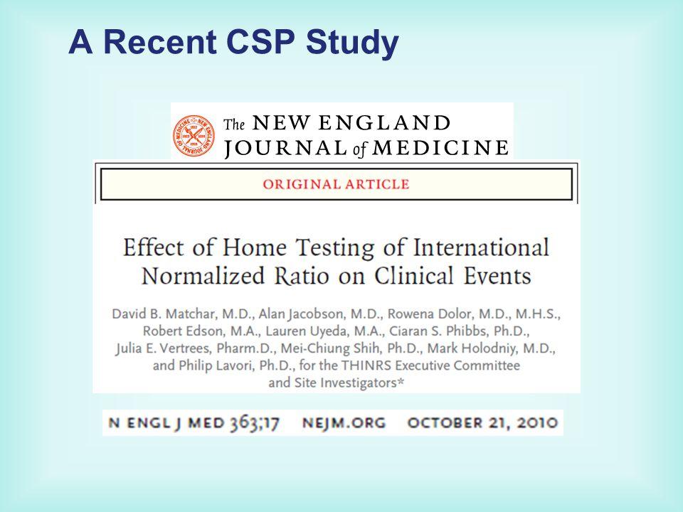 A Recent CSP Study