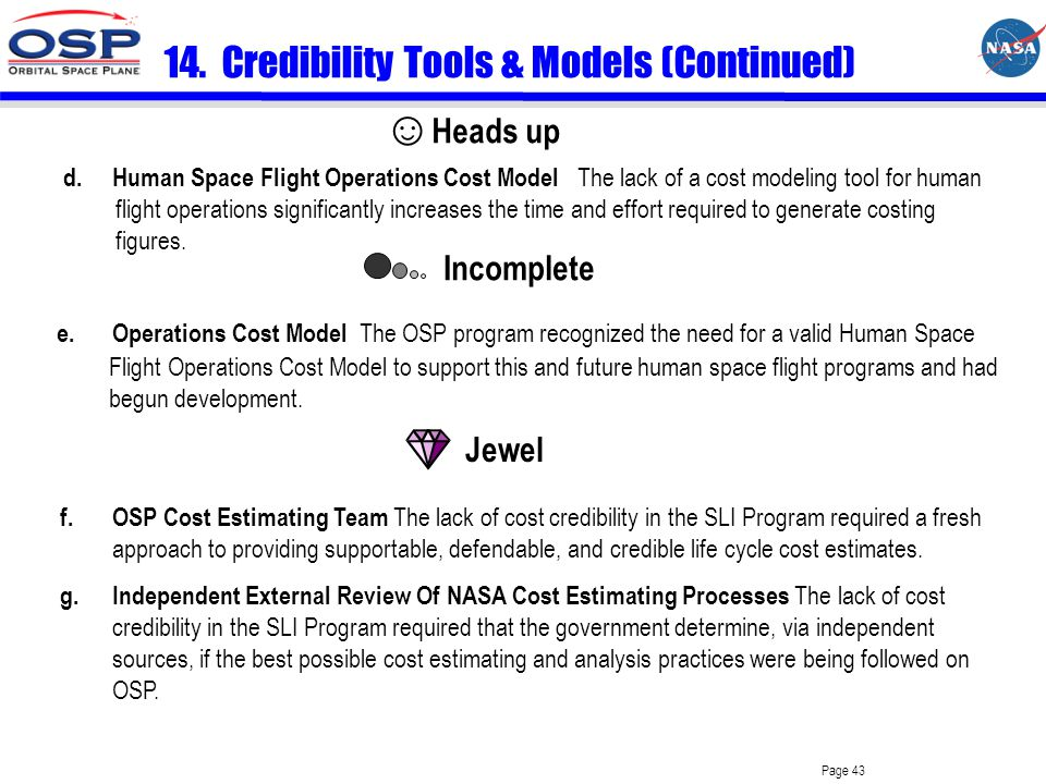 Page 42 14. Credibility Tools & Models a.