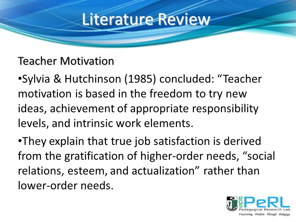 Literature review topic ideas in education