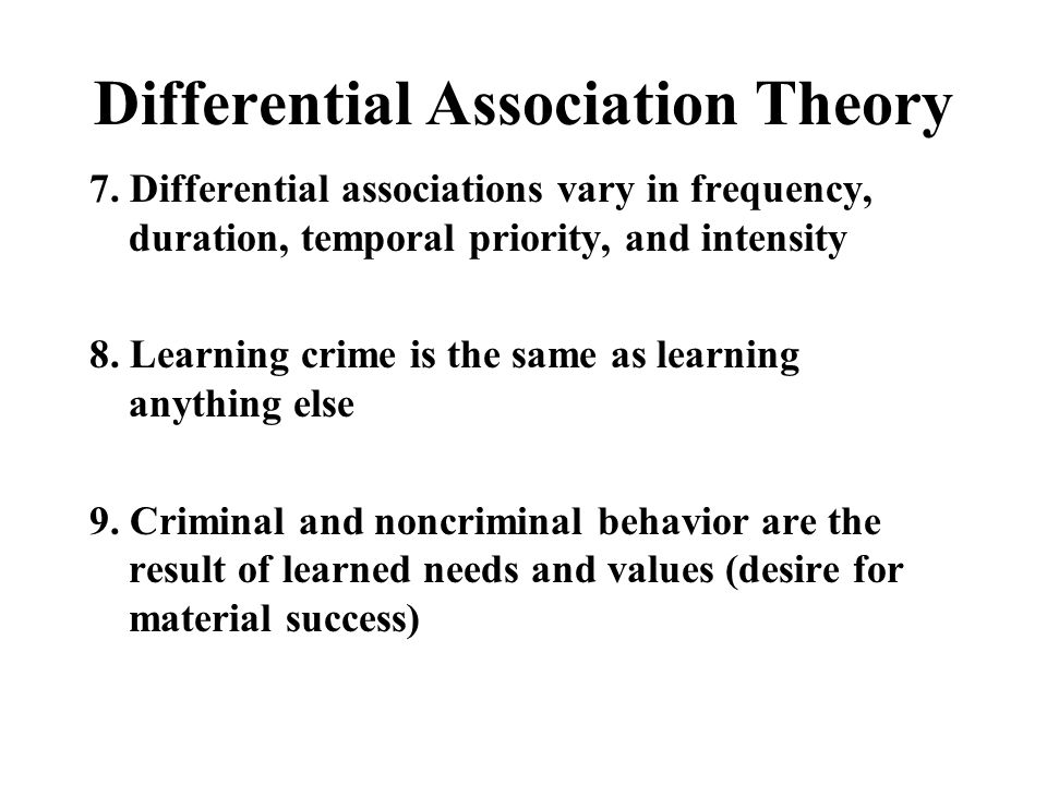 Cheating on an Exam Can we explain cheating on an exam using differential association theory?
