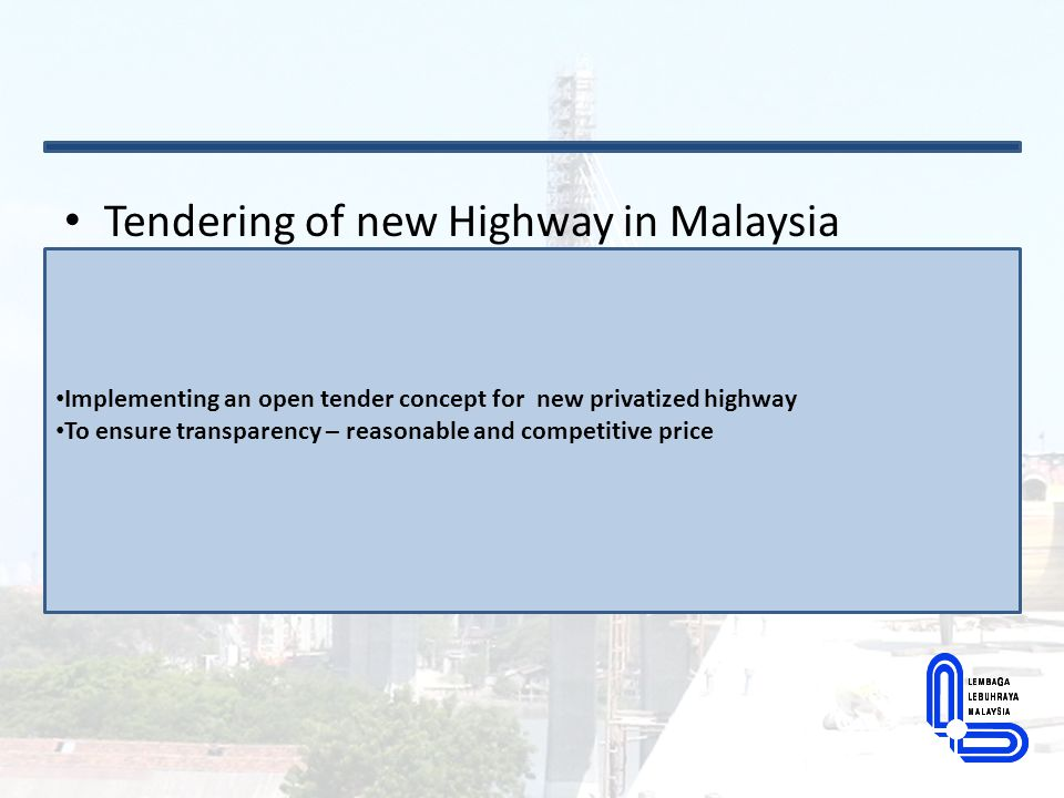 Traffic Model study for Klang Valley and its conurbation A study for the new traffic model Basically to develop Traffic Demand Forecasting Model Finding and analysis – Land use, Socio-economic Framework, traffic survey Will assist Government in evaluating and choosing viable road project