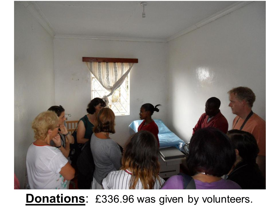 Donations: £336.96 was given by volunteers.