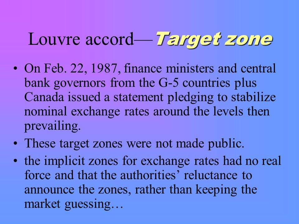 Target zone Louvre accord— Target zone On Feb.