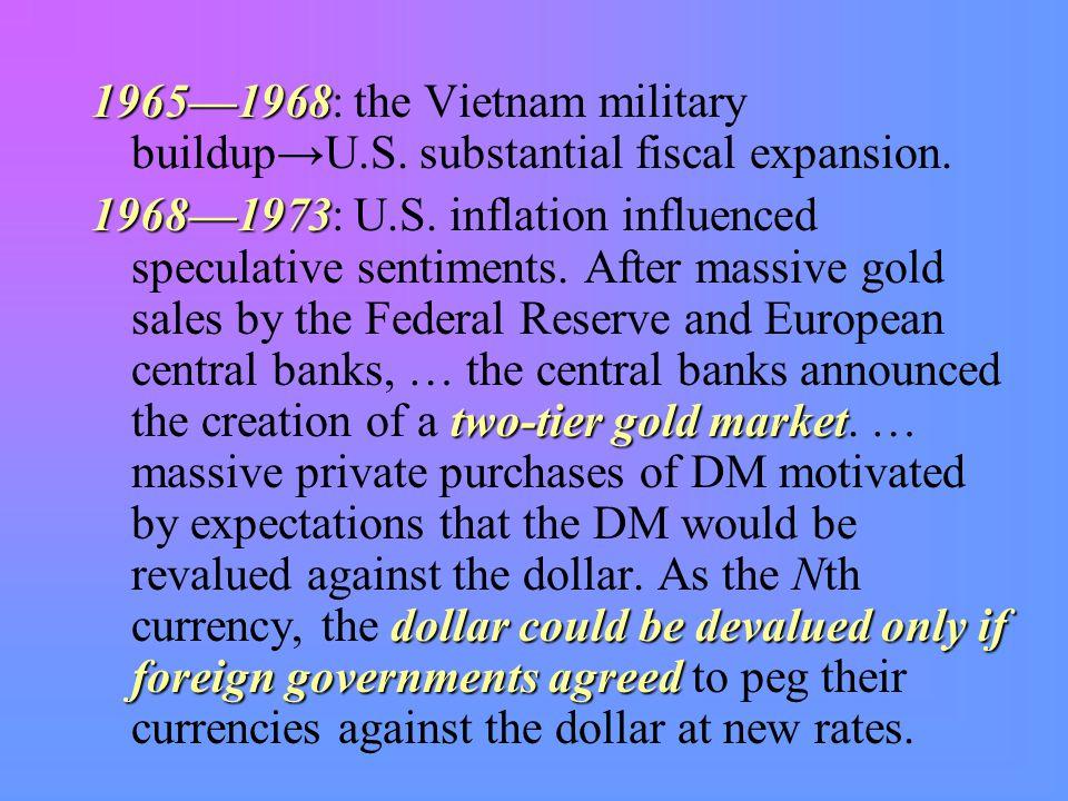 1965—1968 1965—1968: the Vietnam military buildup→U.S.