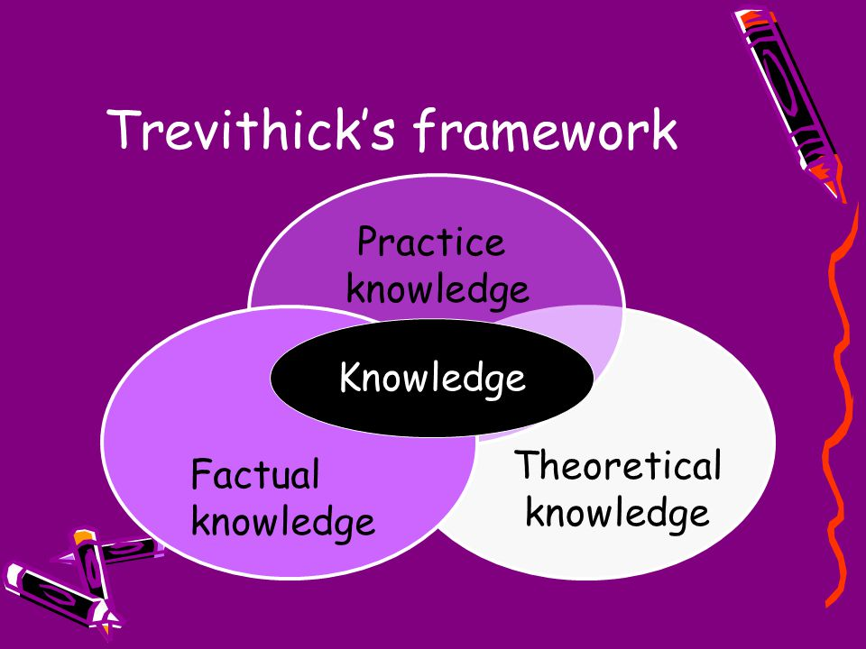 Theoretical knowledge Practice knowledge Trevithick's framework Factual knowledge Knowledge