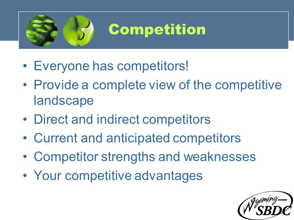 17 Competition Everyone has competitors.