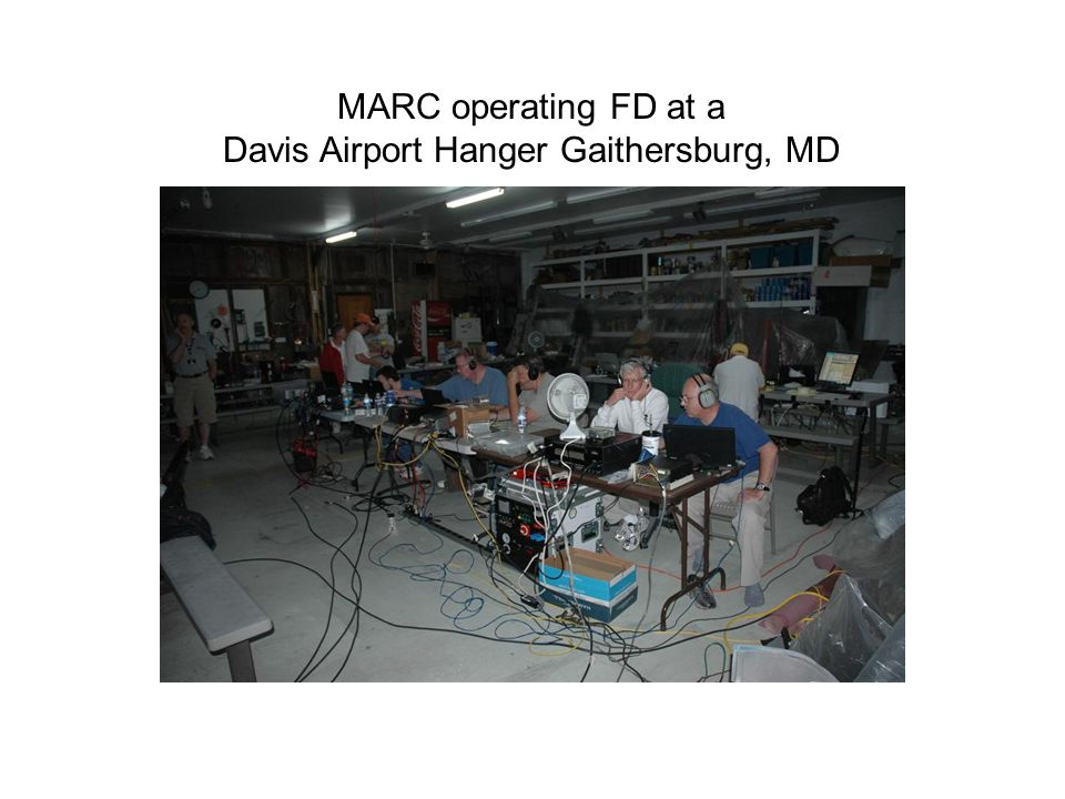 MARC operating FD at a Davis Airport Hanger Gaithersburg, MD