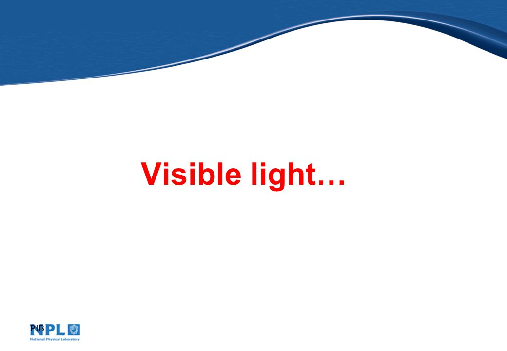 PfB Visible light…