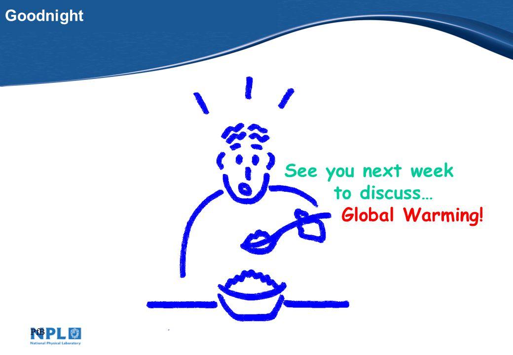 PfB See you next week to discuss… Global Warming! Goodnight