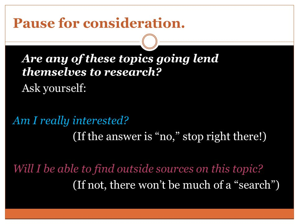 Form a research question.