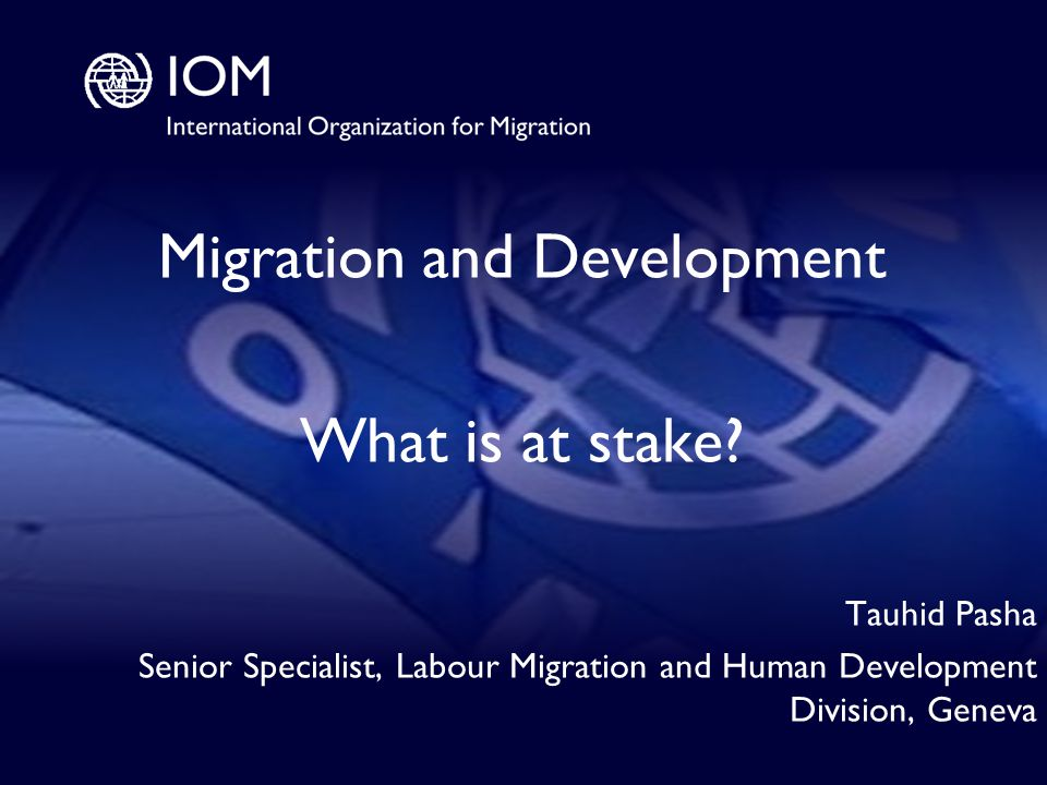 1 Migration and Development What is at stake.