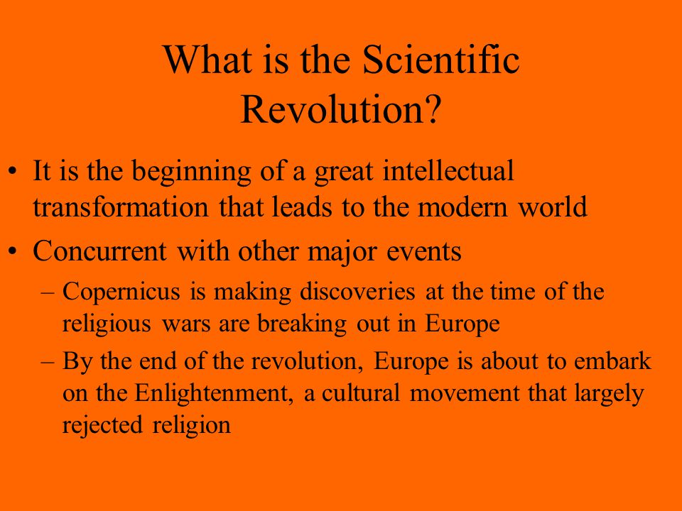 What is the Scientific Revolution.