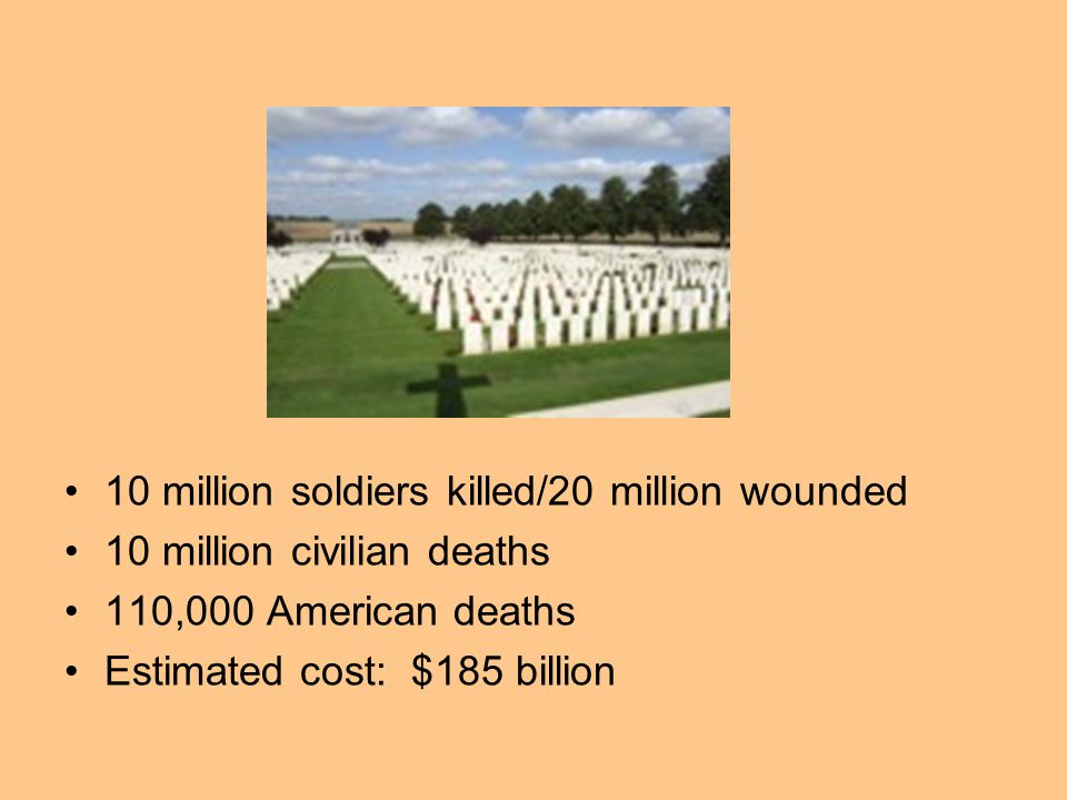 Your task Using chart p.300 Estimated WWI Casualties –Create a bar graph of the chart info.