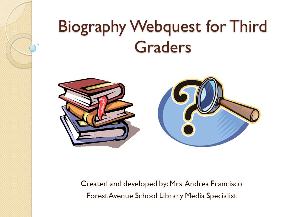 Biography Webquest for Third Graders Created and developed by: Mrs.