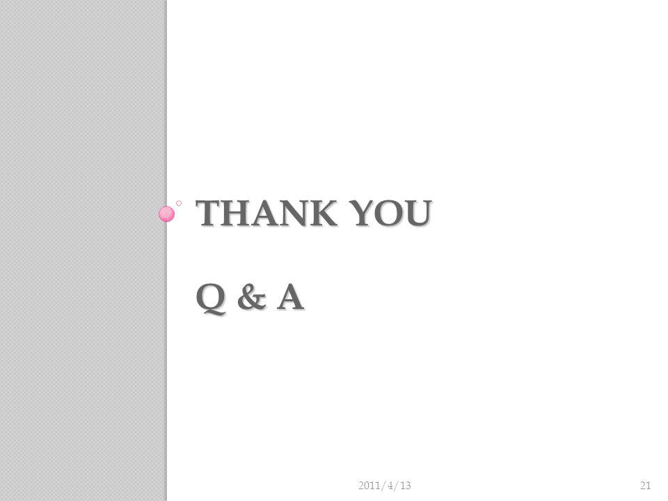 THANK YOU Q & A 2011/4/1321