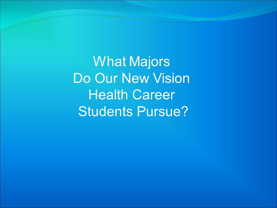 What Majors Do Our New Vision Health Career Students Pursue?