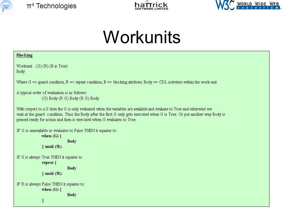 π 4 Technologies Workunits