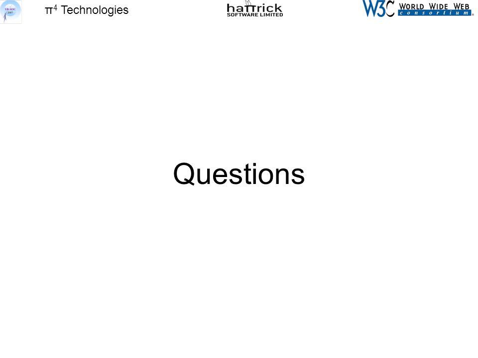 π 4 Technologies Questions