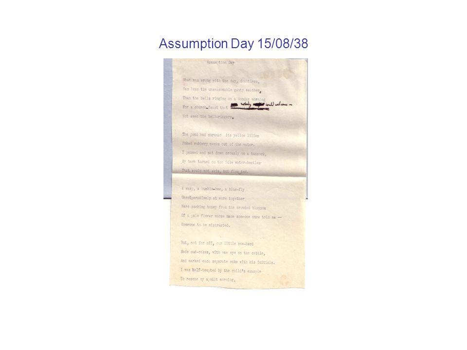 Assumption Day 15/08/38