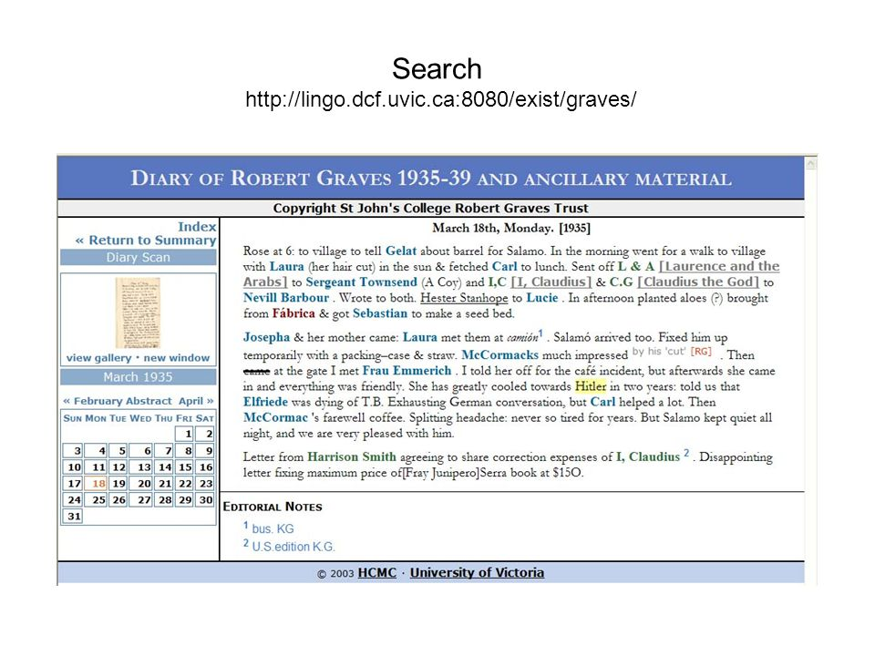 Search http://lingo.dcf.uvic.ca:8080/exist/graves/
