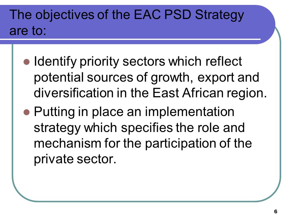 7 Factors constraining economic performance in EAC: Tight monetary and financial policies.