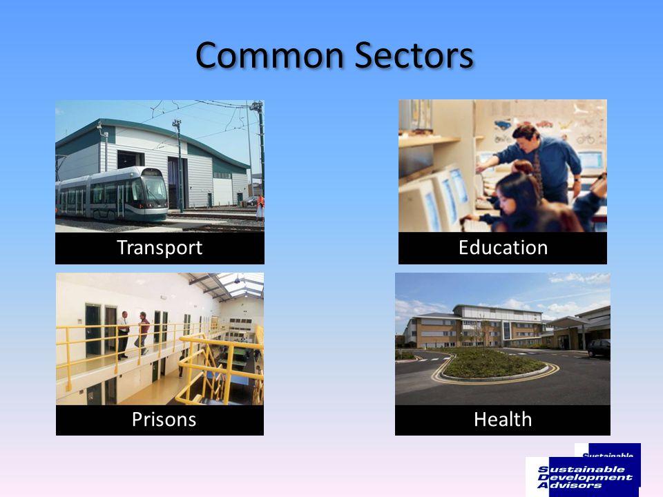 Common Sectors TransportEducation PrisonsHealth 5