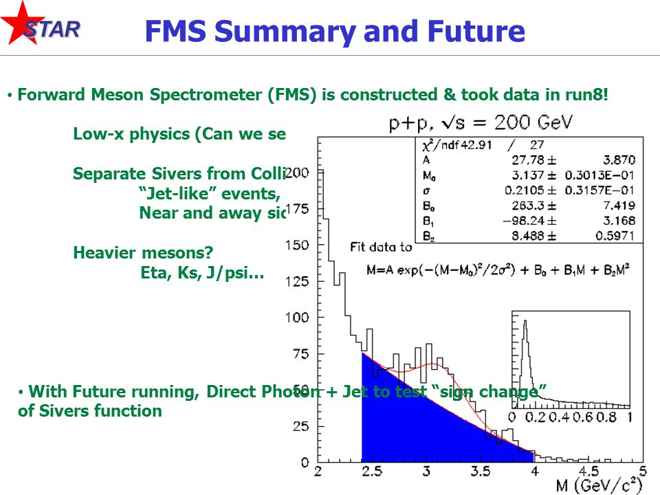 20 STAR FMS Summary and Future Forward Meson Spectrometer (FMS) is constructed & took data in run8.