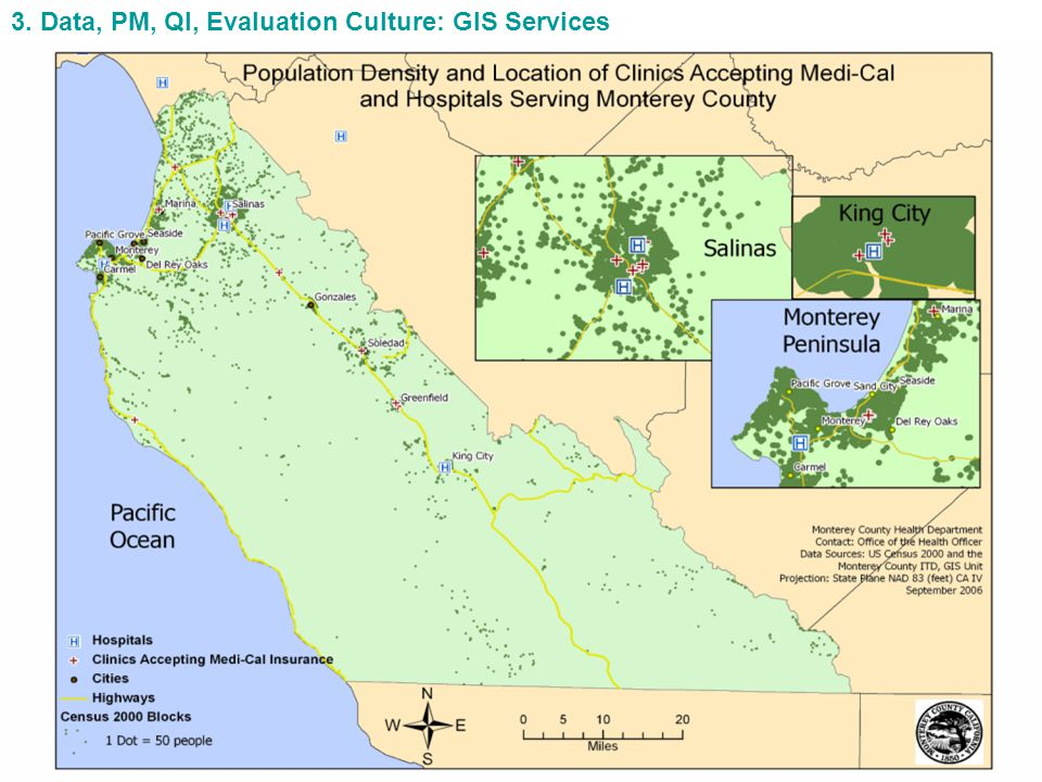3. Data, PM, QI, Evaluation Culture: GIS Services
