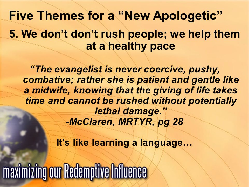Five Themes for a New Apologetic 5.