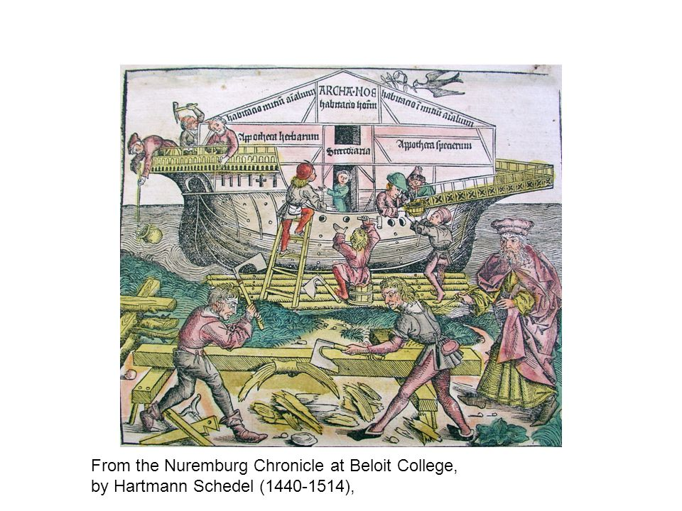 From the Nuremburg Chronicle at Beloit College, by Hartmann Schedel (1440-1514),