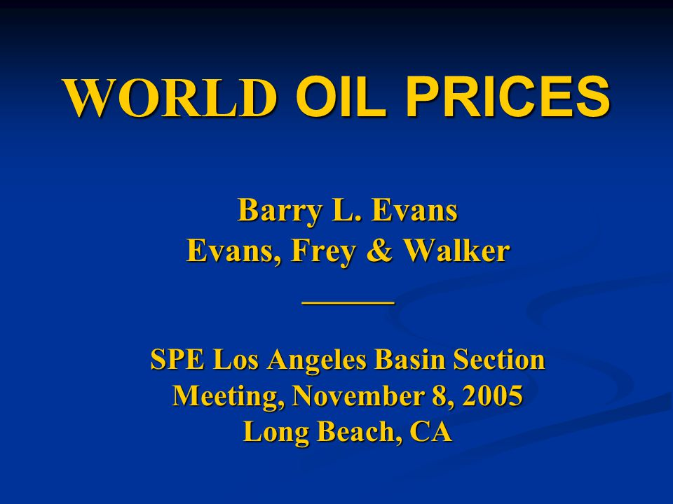 OUTLINE Oil Price History & Current Prices Oil Price History & Current Prices Factors Affecting Oil Prices Factors Affecting Oil Prices Current Supply & Demand Current Supply & Demand Twilight in the Desert.