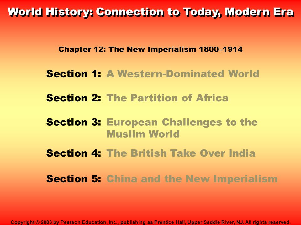 A Western-Dominated World What were the causes of the new imperialism .