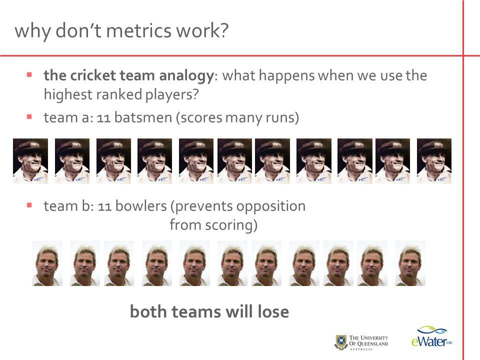 why don't metrics work.