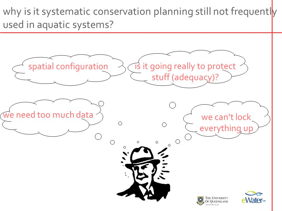 why is it systematic conservation planning still not frequently used in aquatic systems.