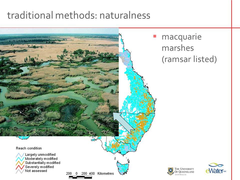 traditional methods: naturalness  narran lakes (ramsar listed)