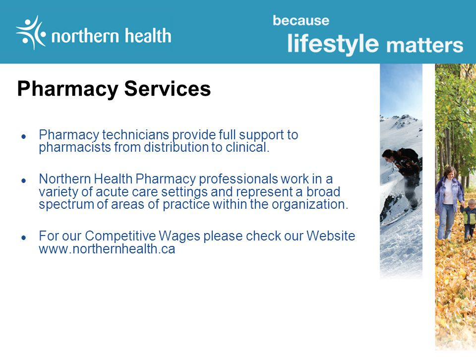 Pharmacy Services Pharmacy technicians provide full support to pharmacists from distribution to clinical.