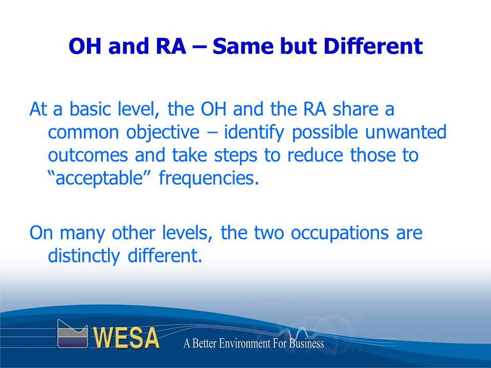 The RA Option in O.Reg.