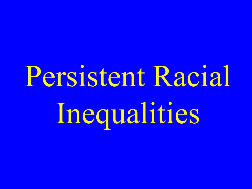 Persistent Racial Inequalities